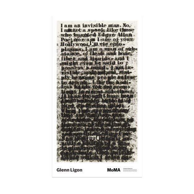 Glenn Ligon: Untitled (I am an invisible man) Poster in color