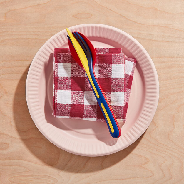 Klikk On-the-Go Flatware - Set of 3 in color Red/ Blue/ Yellow