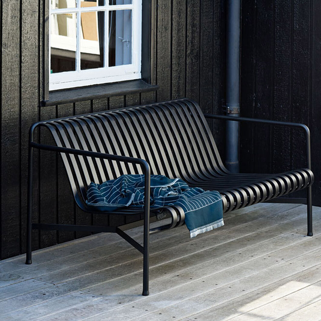 HAY Palissade Outdoor Lounge Sofa in color Anthracite