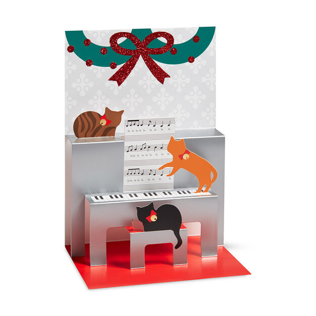 Caroling Cats Holiday Cards in color