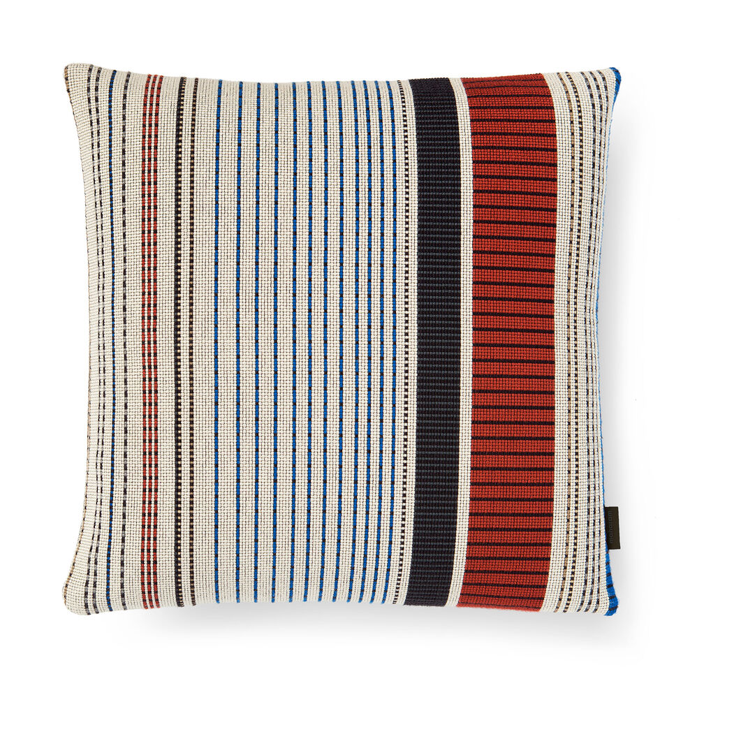 Maharam Point Pillow - Ivory and Ember in color