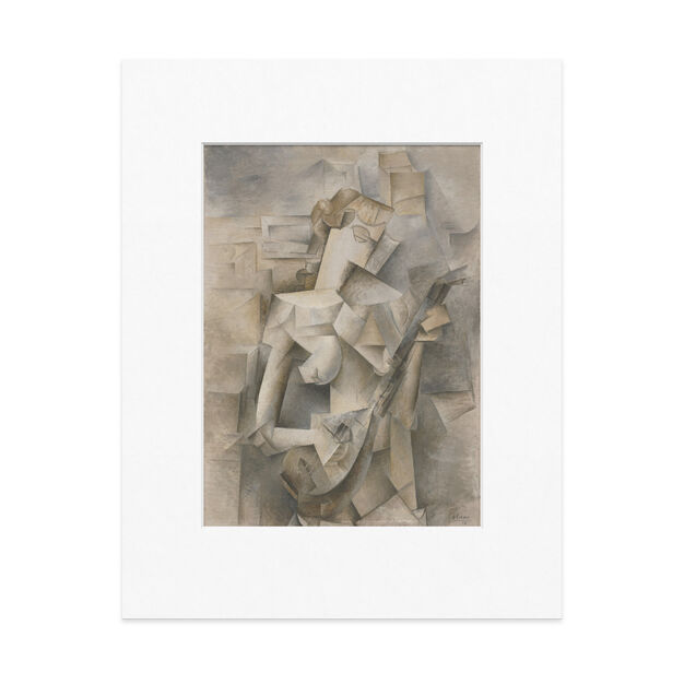 Picasso: Girl With A Mandolin Matted Print in color