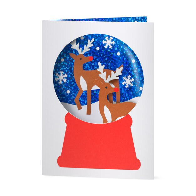Snowy Reindeer Holiday Cards in color
