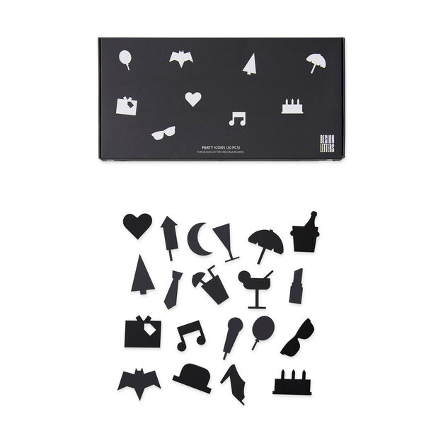 Arne Jacobsen Party Icons in color Black