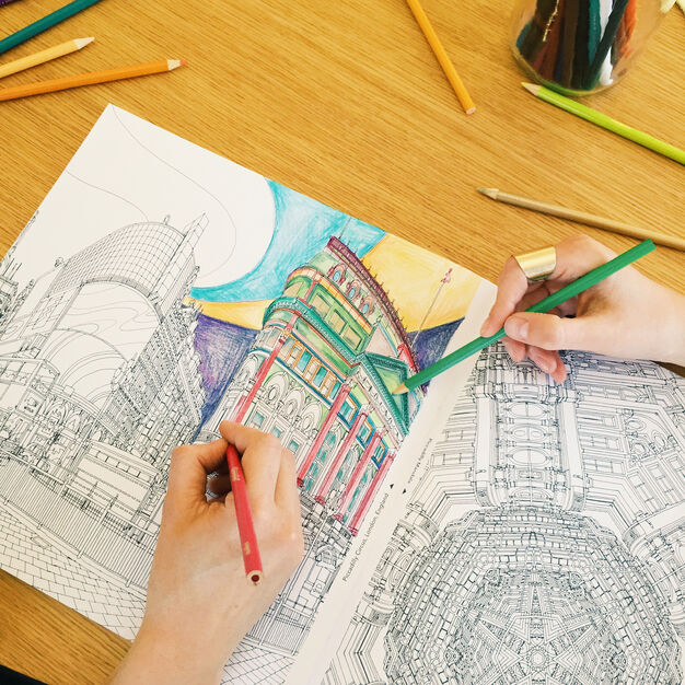 Fantastic Cities Coloring Book - Paperback in color