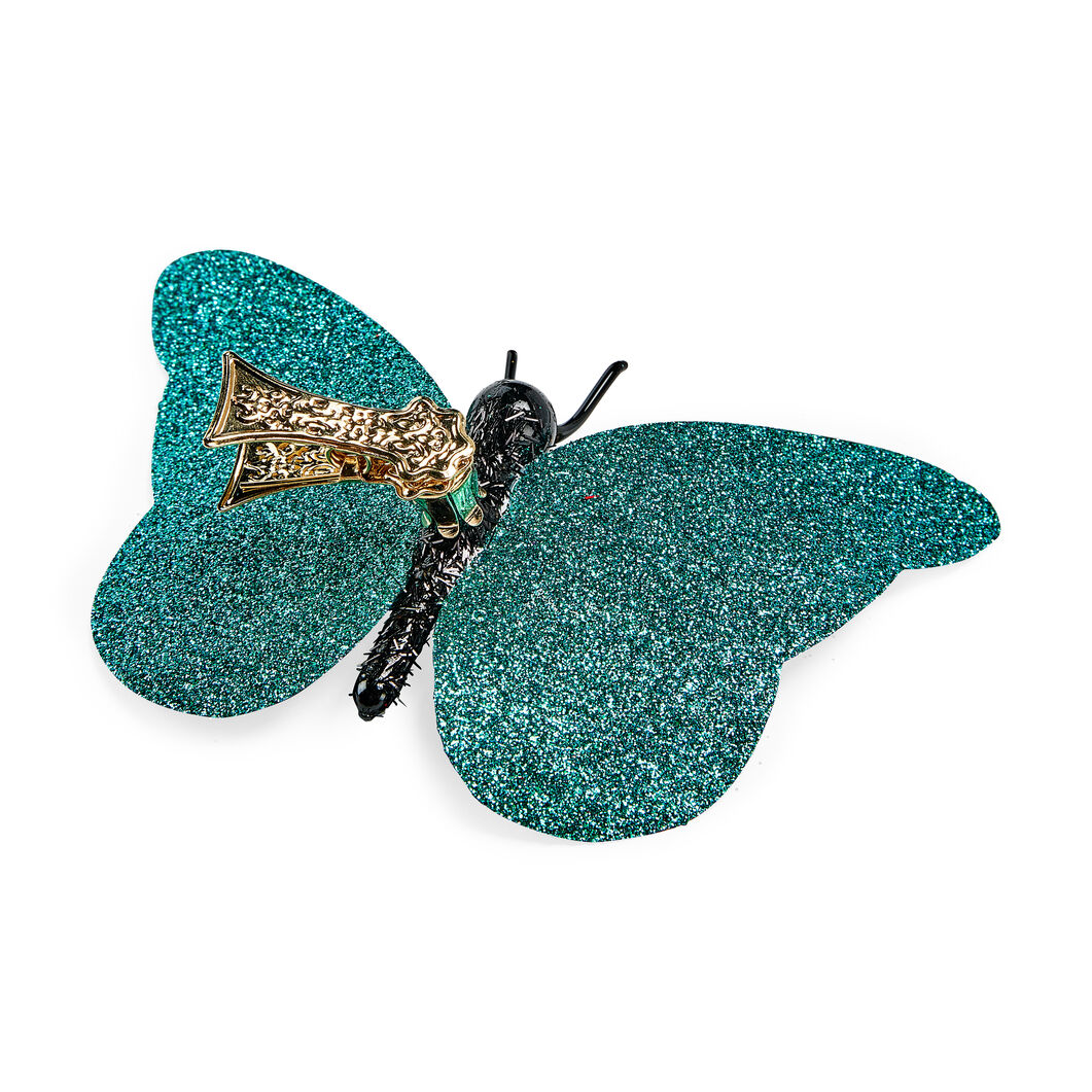 Blue Butterfly Holiday Ornament in color