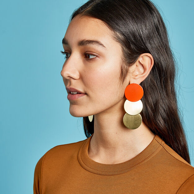 Sibilia 3 Circles Earrings in color