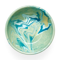 Multi Swirl Enamel Bowl in color Green