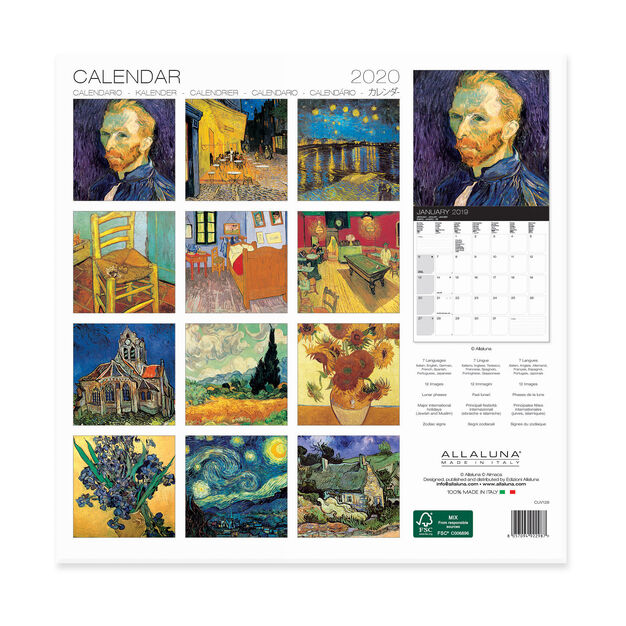 2020 Van Gogh Wall Calendar in color