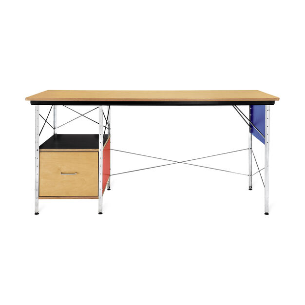 Eames Desk in color Red/ Blue
