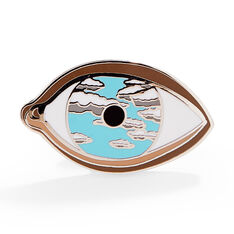 René Magritte: False Mirror Enamel Pin in color
