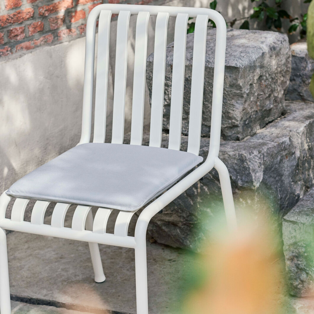HAY Palissade Outdoor Side Chair in color Sky Grey