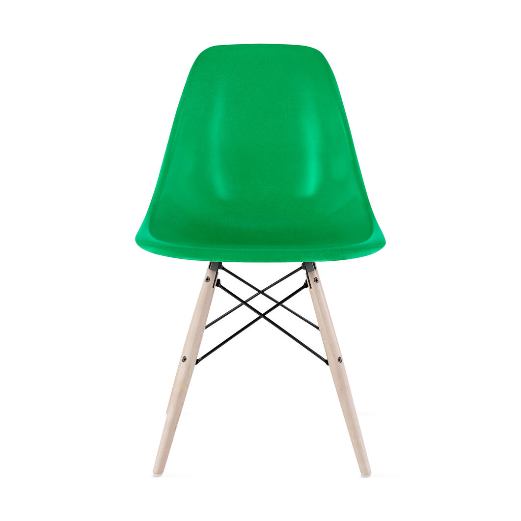 Eames® Molded Fiberglass Side Chair from Herman Miller© in color Green