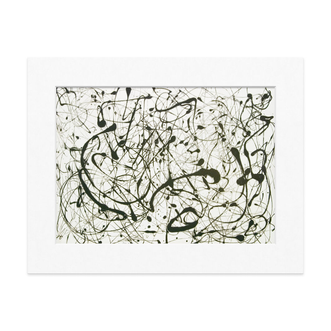 Pollock: Number 14 Gray Matted Print in color