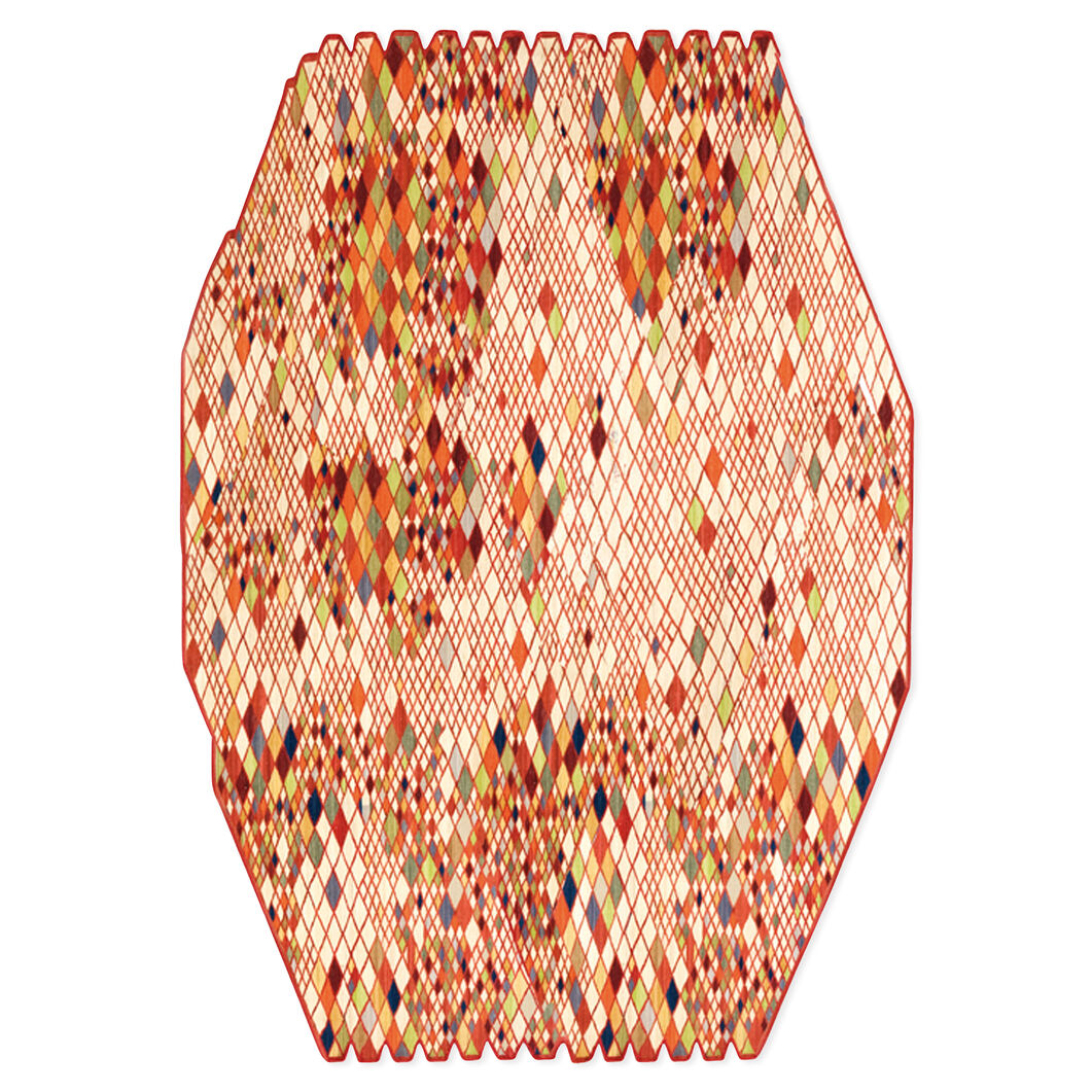 Nanimarquina Losanges Rug in color Red