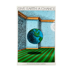 Milton Glaser: Give Earth a Chance Poster in color