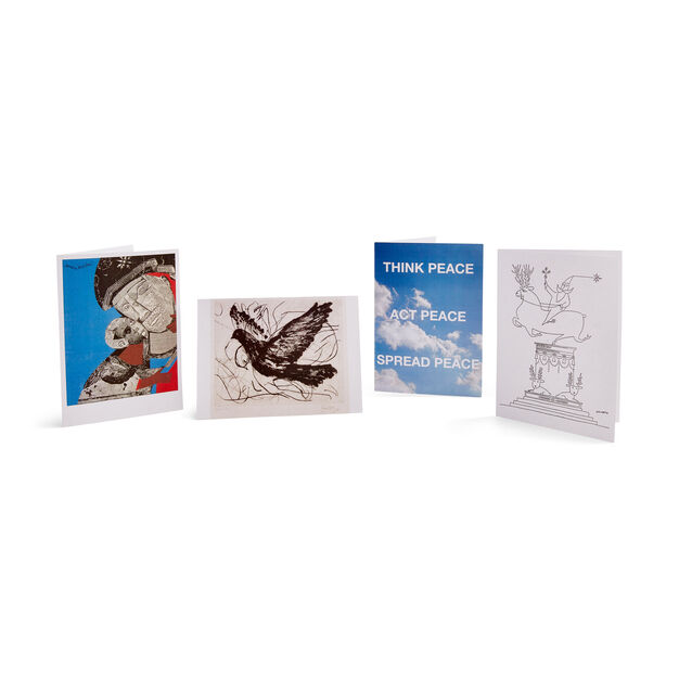 Saul Steinberg Holiday Cards - Set of 12 in color