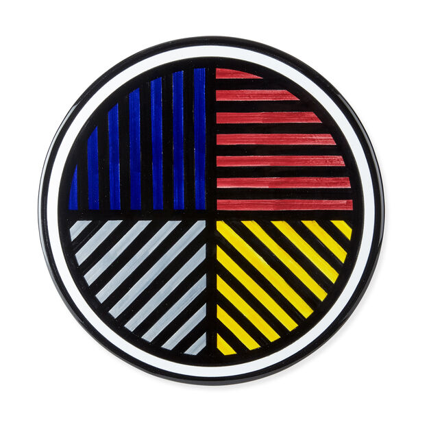 Sol Lewitt Cake Plates - Lines in 4 Directions in color
