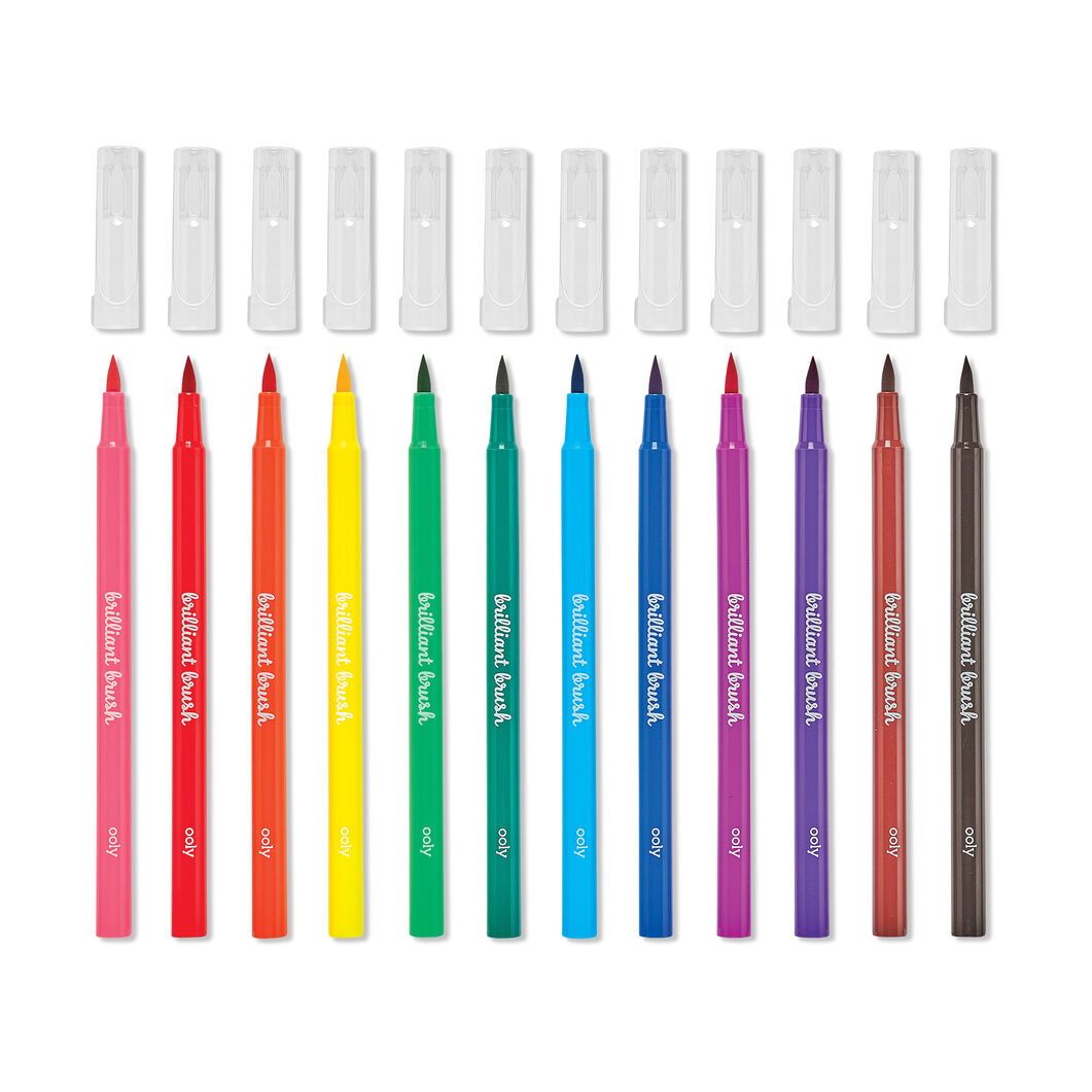 Brilliant Brush Markers - Set of 12 in color