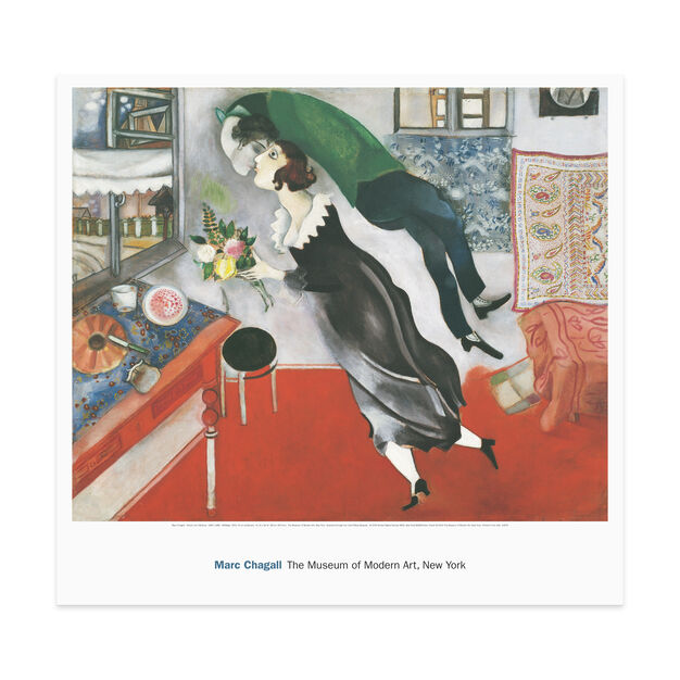 Poster Chagall: Birthday in color