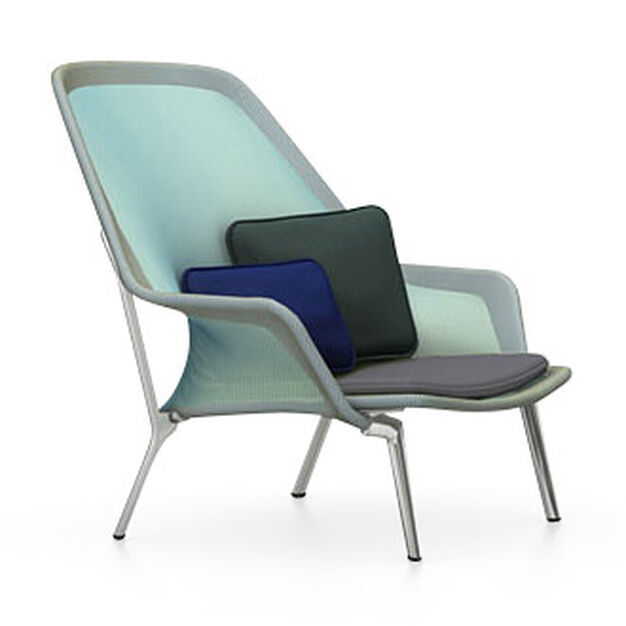 Slow Chair in color Blue/ Green