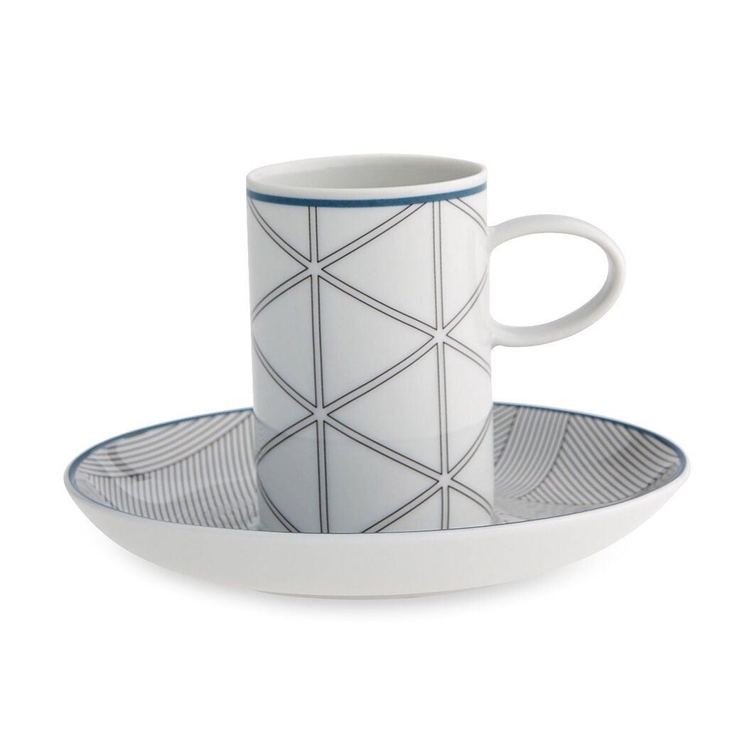 Orquestra Espresso Cup and Saucer in color