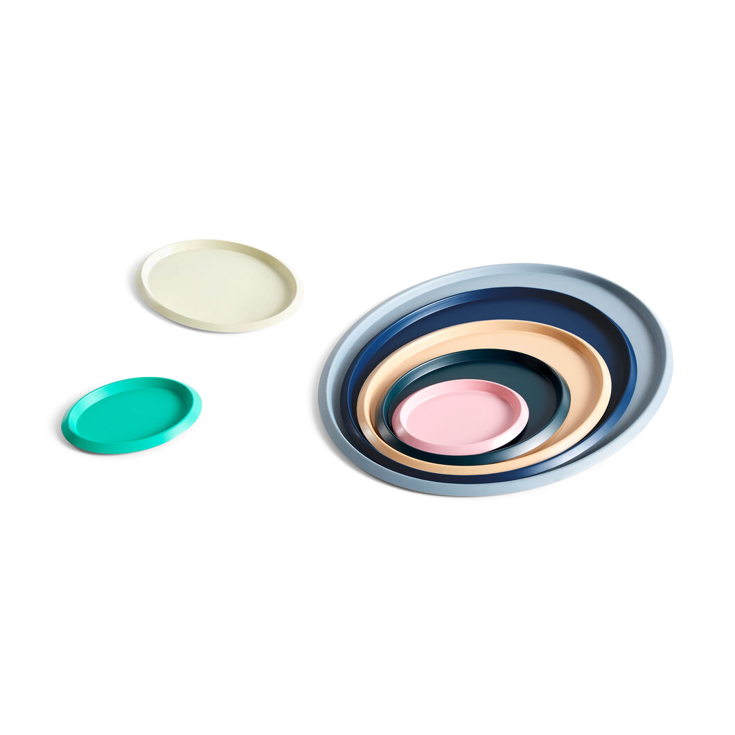 HAY Ellipse Trays in color Light Yellow