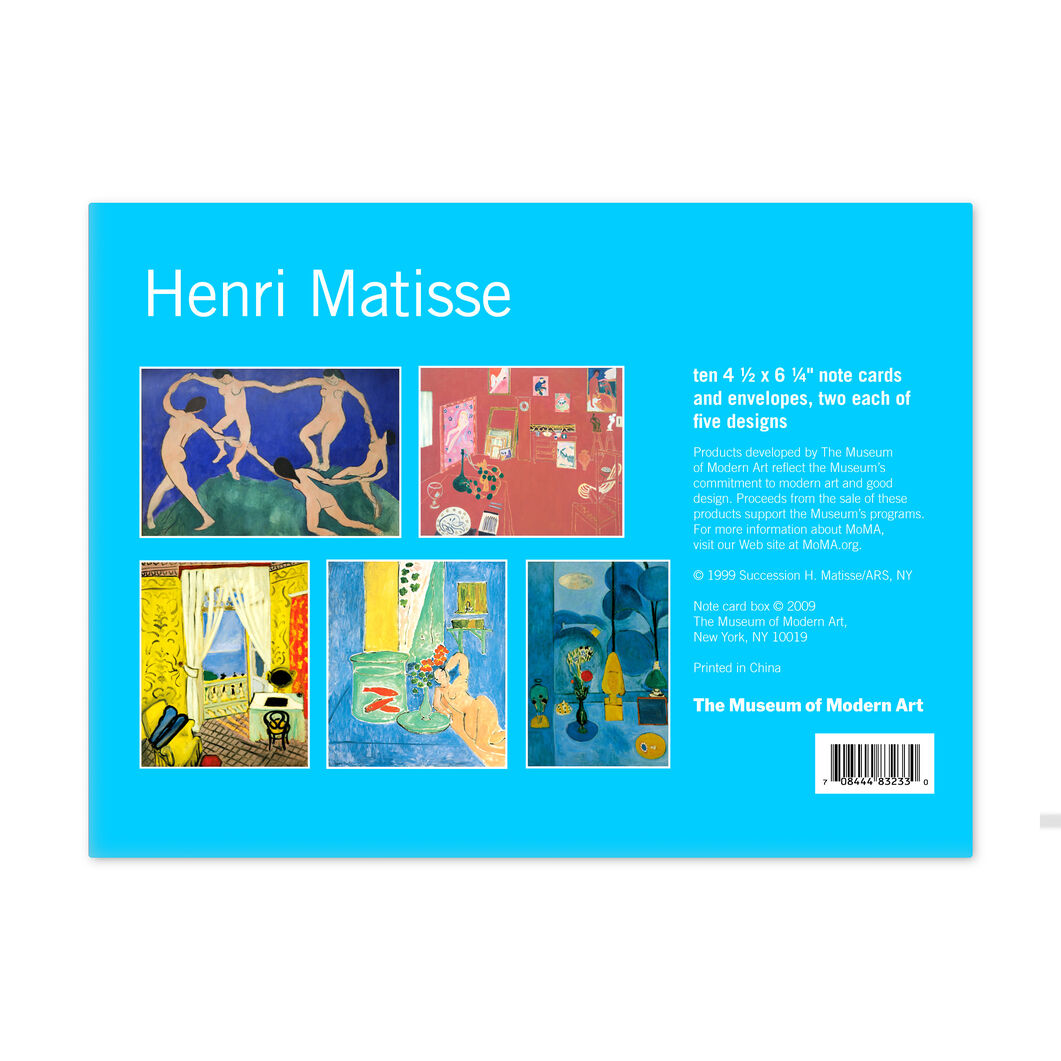 Henri Matisse Note Card Box in color