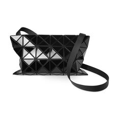 BAO BAO ISSEY MIYAKE Large Lucent Basic Cross Body Bag- Black in color Black