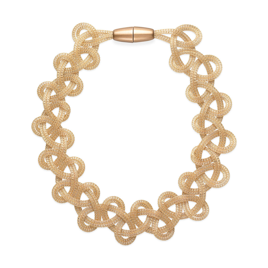 Golden Mesh Necklace in color