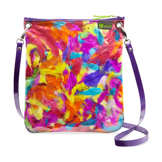 Feather-Fill Cross Body Purse in color