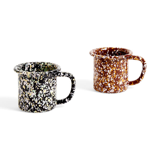 HAY Enamel Mug in color Black