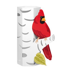 Cardinal on Birch Holiday Cards in color