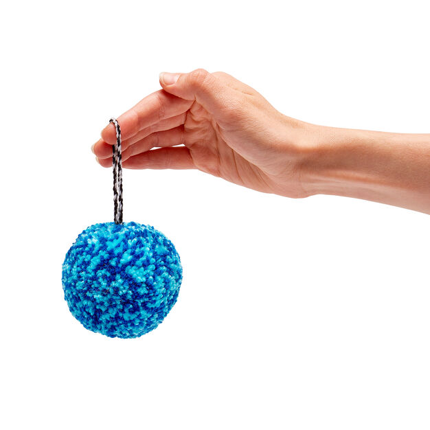 Pompom Holiday Ornaments in color Blue