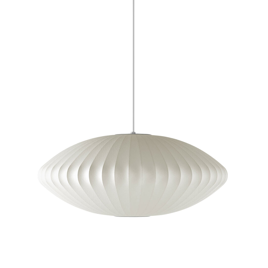 Nelson™ Saucer Bubble Pendant in color White