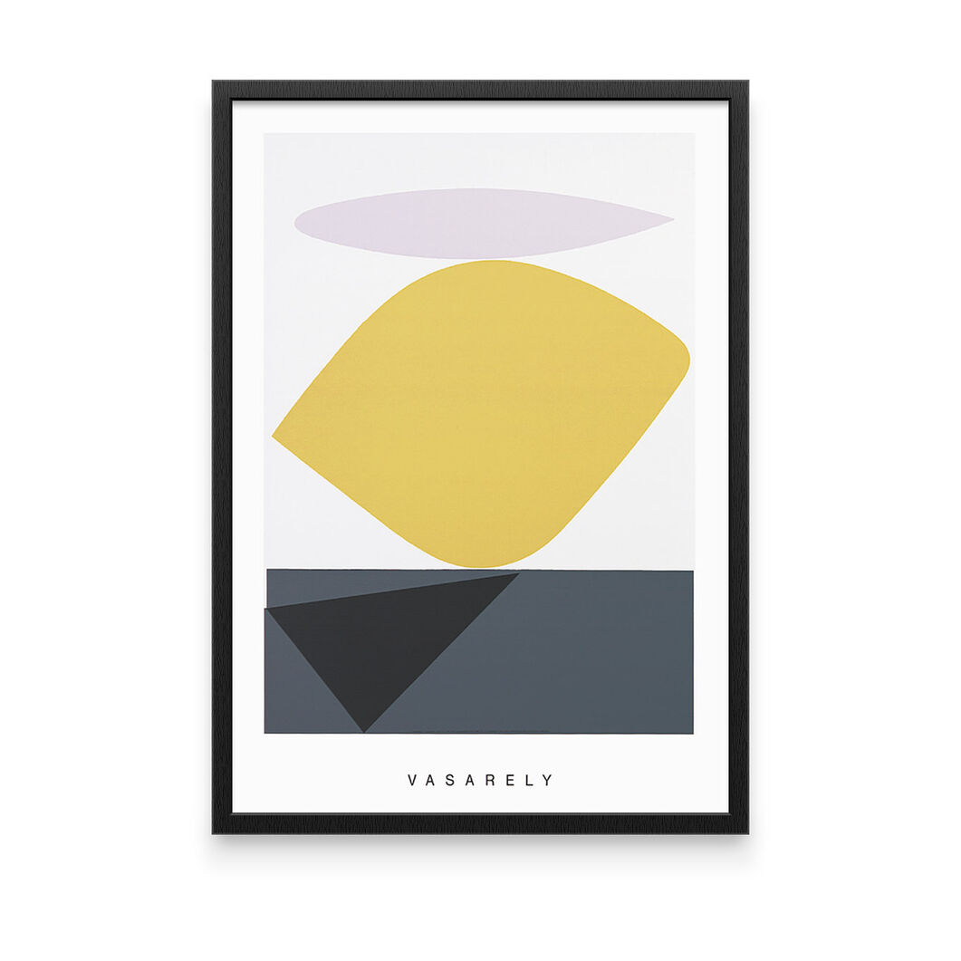 Vasarely: Souzon Framed Print in color