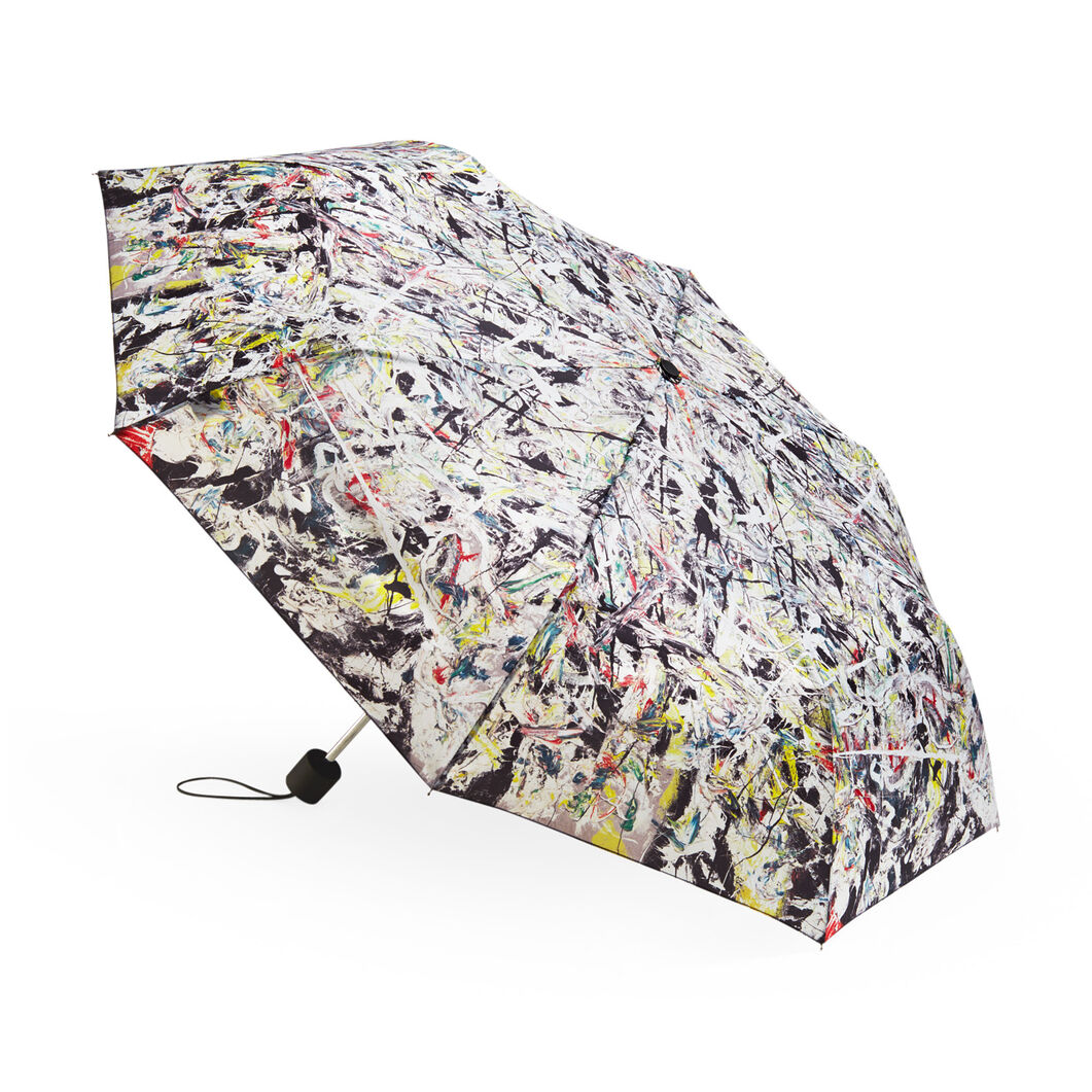 Jackson Pollock: White Light Folding Umbrella in color