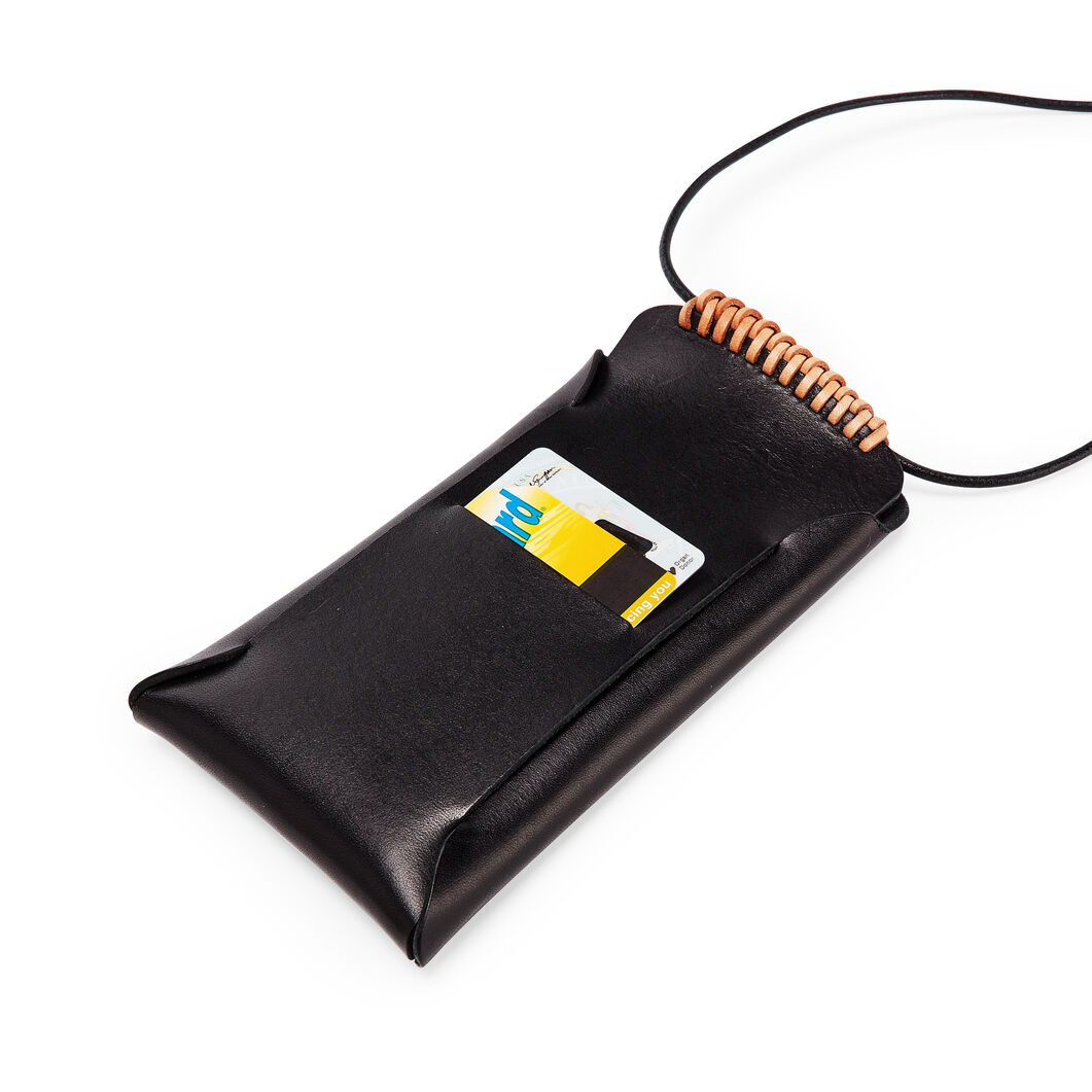 Woven iPhone Pouch in color Black