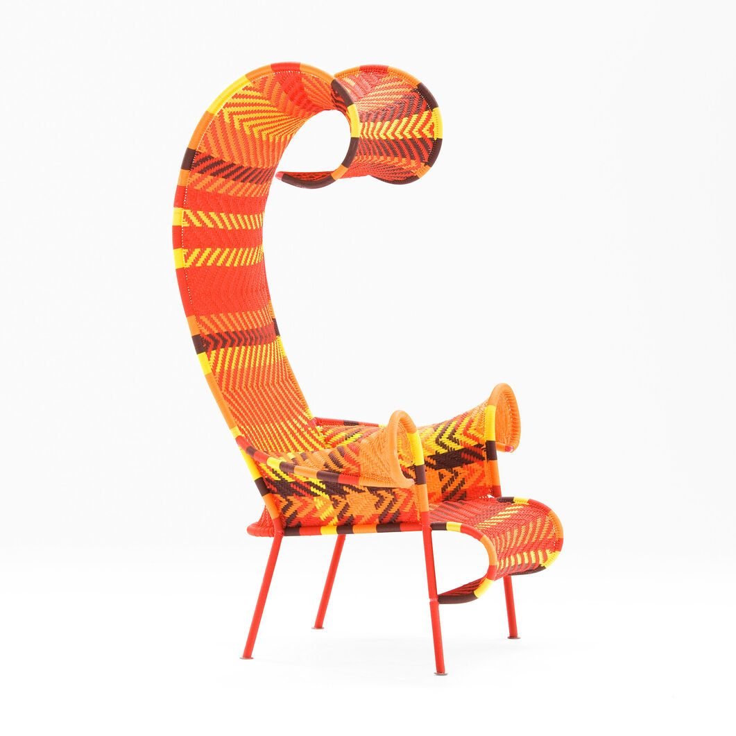 M'Afrique Shadowy Armchair in color Orange