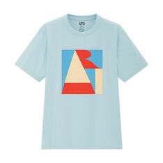 UNIQLO Robert Indiana Art T-Shirt in color Light Blue