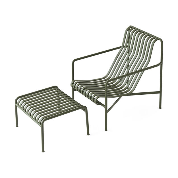Hay Palissade Outdoor Lounge Chair High Green Moma Design Store