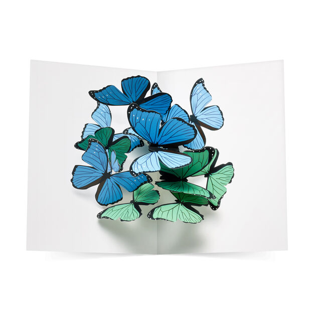Beautiful Butterflies Pop-Up Note Cards - Set of 6 in color