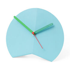 Mountain Fold Desk Clock in color Blue