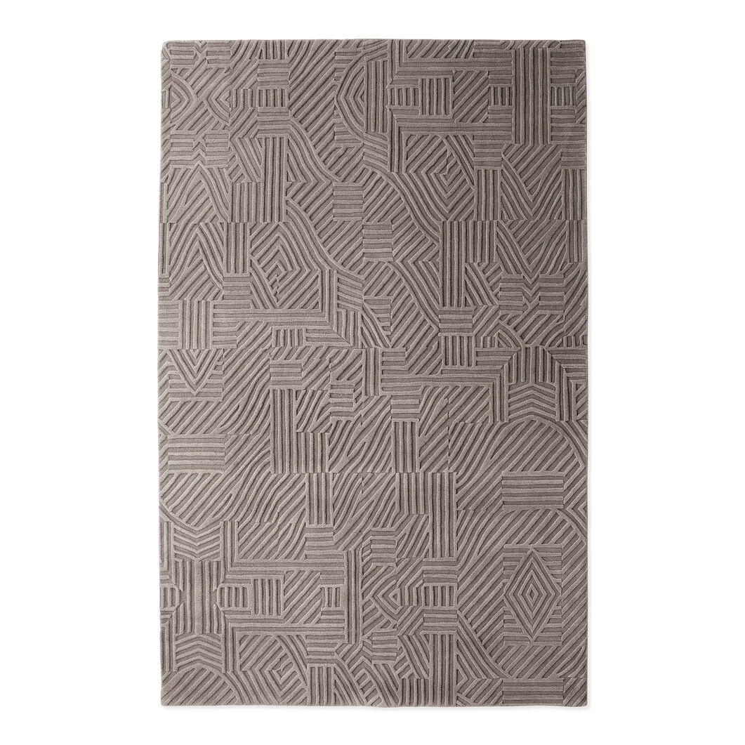 Nanimarquina African Pattern Rug Light Gray in color Light Gray
