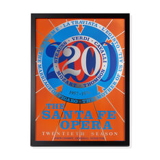 Robert Indiana: Santa Fe Opera Framed Poster in color