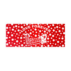 Yayoi Kusama Love Forever Tea Towel in color Red