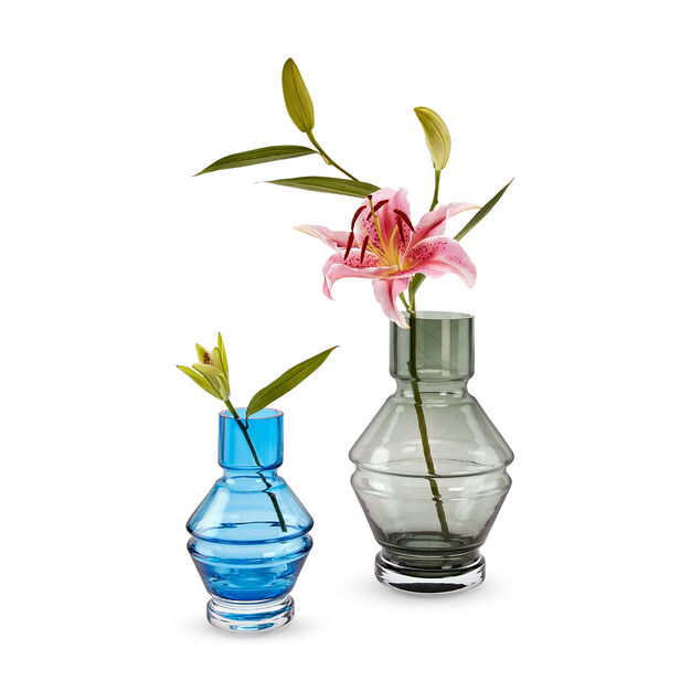 Raawii RELÆ Glass Vase in color Aquamarine Blue