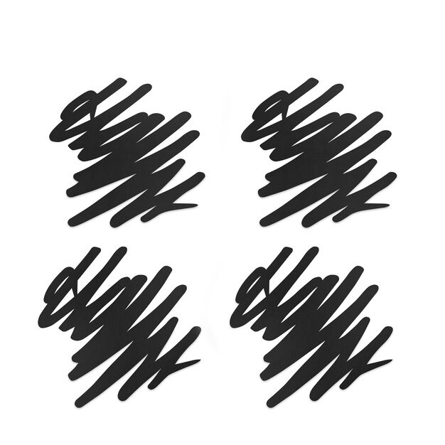 Doodle Coasters Set of 4 in color Black