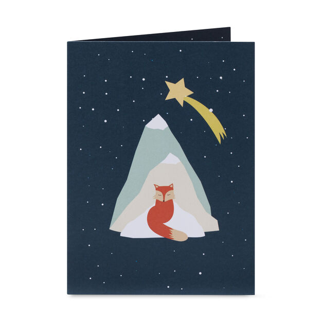 Festive Fox Holiday Cards - Set of 8 in color