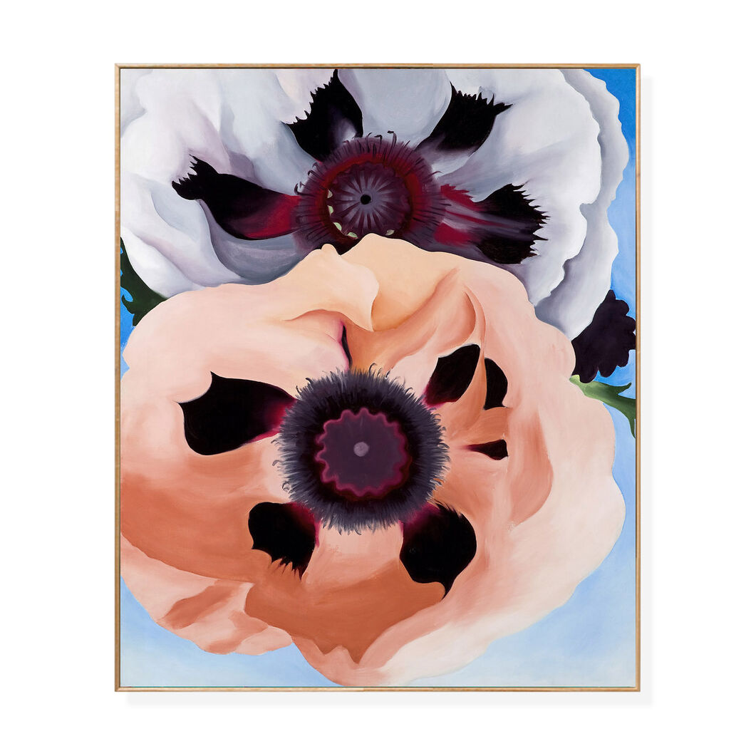 O'Keeffe: Poppies Framed Print in color